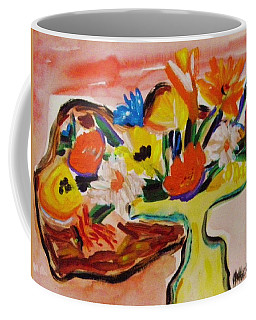 Yellow Blown Glass Vase Coffee Mug