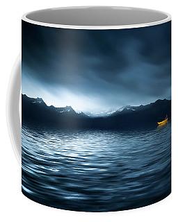 Yellow Boat Coffee Mug by Bess Hamiti
