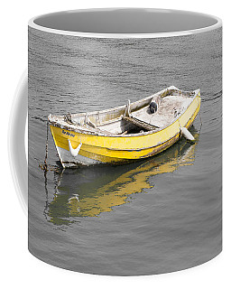 Yellow Boat Coffee Mug by Helen Northcott