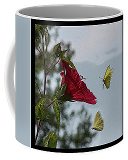 Yellow Butterfly On Texas Star I Coffee Mug