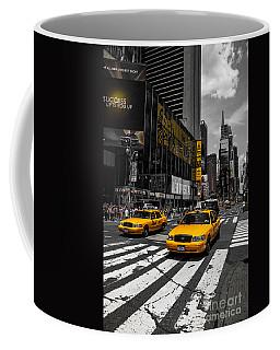 Yellow Cabs Cruisin On The Times Square  Coffee Mug