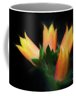 Coffee Mug featuring the photograph Yellow Cactus Flowers by Darleen Stry