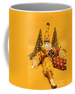 Yellow Carnival Clown Doll Coffee Mug