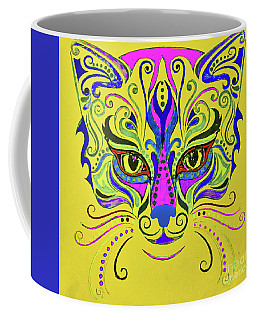 Yellow Cat Coffee Mug