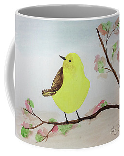 Yellow Chickadee On A Branch Coffee Mug