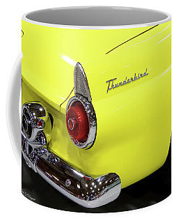 Yellow Classic Thunderbird Car Coffee Mug