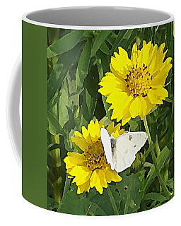 Yellow Cow Pen Daisies Coffee Mug