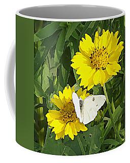 Yellow Cow Pen Daisies Coffee Mug