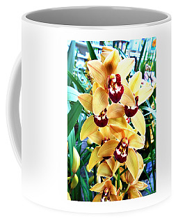 Yellow Cymbidium Orchid Coffee Mug