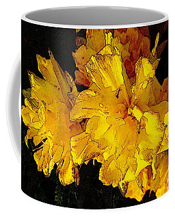 Coffee Mug featuring the photograph Yellow Daffodils 4 by Jean Bernard Roussilhe