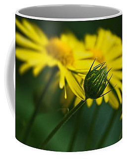 Yellow Daisy Bud Coffee Mug