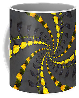 Yellow Daisy Spin Wheel  Coffee Mug