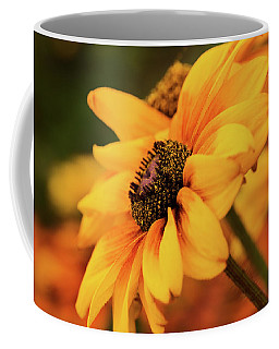Coffee Mug featuring the photograph Yellow Dark by Mary Jo Allen