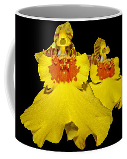 Coffee Mug featuring the photograph Yellow Dresses by Judy Vincent
