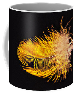 Yellow Feather Macro Coffee Mug