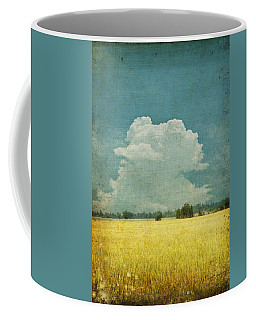 Yellow Field On Old Grunge Paper Coffee Mug