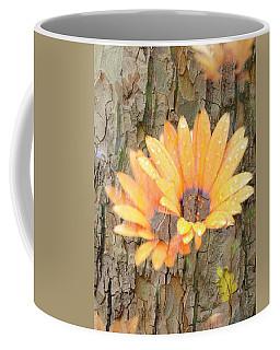 Coffee Mug featuring the photograph Yellow Flower Bark by Amanda Eberly-Kudamik