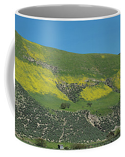 Yellow Hills On Carmel Road Coffee Mug by Loriannah Hespe