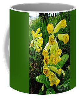 Coffee Mug featuring the photograph Yellow Flowers 2 by Jean Bernard Roussilhe