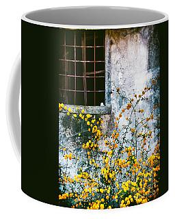 Yellow Flowers And Window Coffee Mug