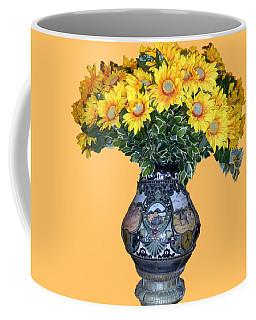 Yellow Flowers In Vase Coffee Mug