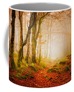 Yellow Forest Mist Coffee Mug