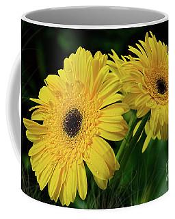 Coffee Mug featuring the photograph Yellow Gerbera Daisies By Kaye Menner by Kaye Menner