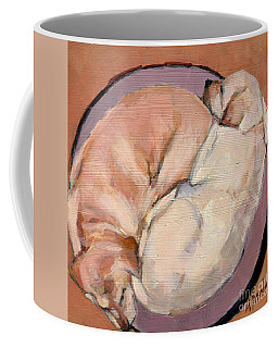 Coffee Mug featuring the painting Yellow Go Round by Molly Poole
