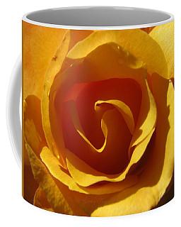 Yellow Gold Swirl - Rose Macro Coffee Mug