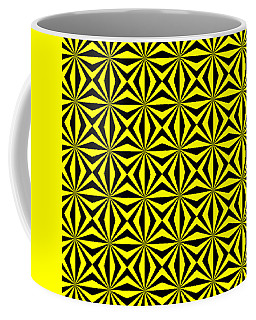 Coffee Mug featuring the digital art Yellow Happiness by Lucia Sirna
