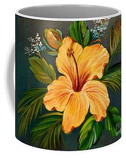 Yellow Hibiscus Coffee Mug by Jenny Lee