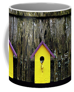 Coffee Mug featuring the photograph Yellow Homes - 365-268 by Inge Riis McDonald