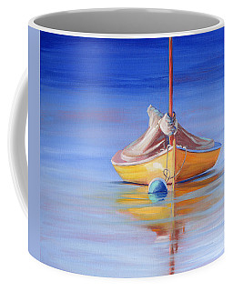 Yellow Hull Sailboat Iv Coffee Mug