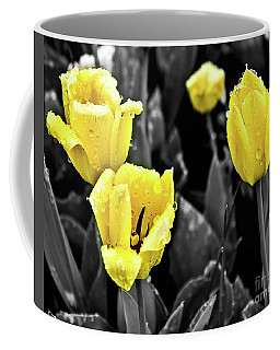Yellow In Black And White Coffee Mug