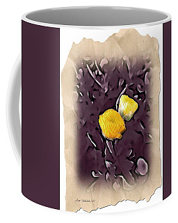 Coffee Mug featuring the photograph Yellow In Purple by Joan  Minchak