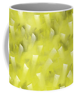 Coffee Mug featuring the digital art Yellow Knife Abstract by Shelli Fitzpatrick