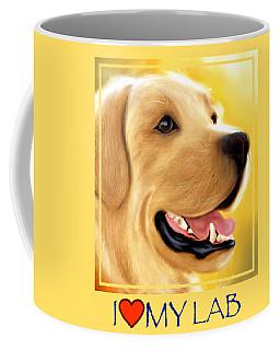 Yellow Lab Portrait Coffee Mug