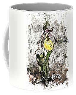 Yellow Lady's Slipper Coffee Mug