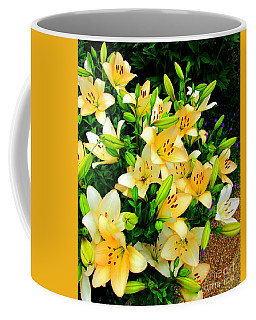 Coffee Mug featuring the photograph Yellow Lilies 2 by Randall Weidner