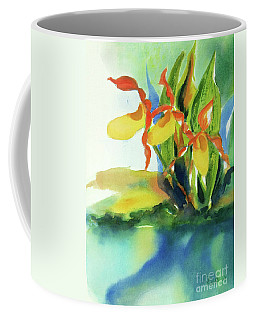 Yellow Moccasin Flowers Coffee Mug