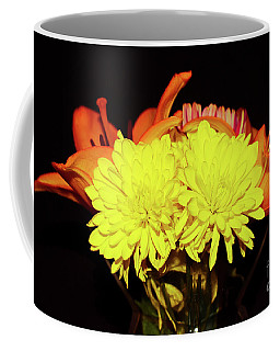 Yellow Mums And Orange Lilies  Coffee Mug