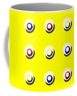 Yellow Nine Squared Coffee Mug