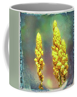 Coffee Mug featuring the photograph Yellow On Blue by Lewis Mann