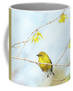 Yellow On Yellow Pine Warbler Coffee Mug