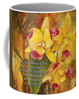 Yellow Orchids Acrylic 2 Cor 5 Coffee Mug