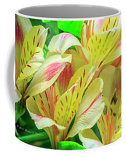 Yellow Peruvian Lilies In Bloom Coffee Mug