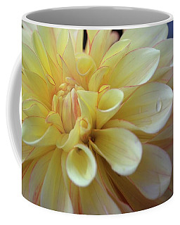 Coffee Mug featuring the photograph Yellow Petals With Raindrop by Patricia Strand