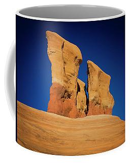 Coffee Mug featuring the photograph Yellow Pillars by Edgars Erglis