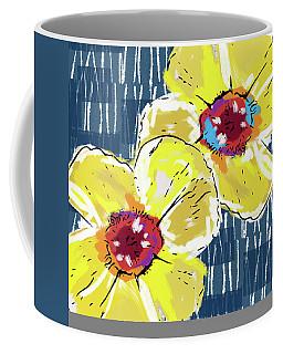 Yellow Poppies 2- Art By Linda Woods Coffee Mug