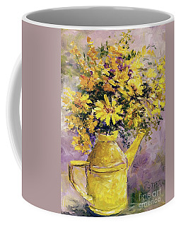 Yellow Pot Of Sunshine Coffee Mug